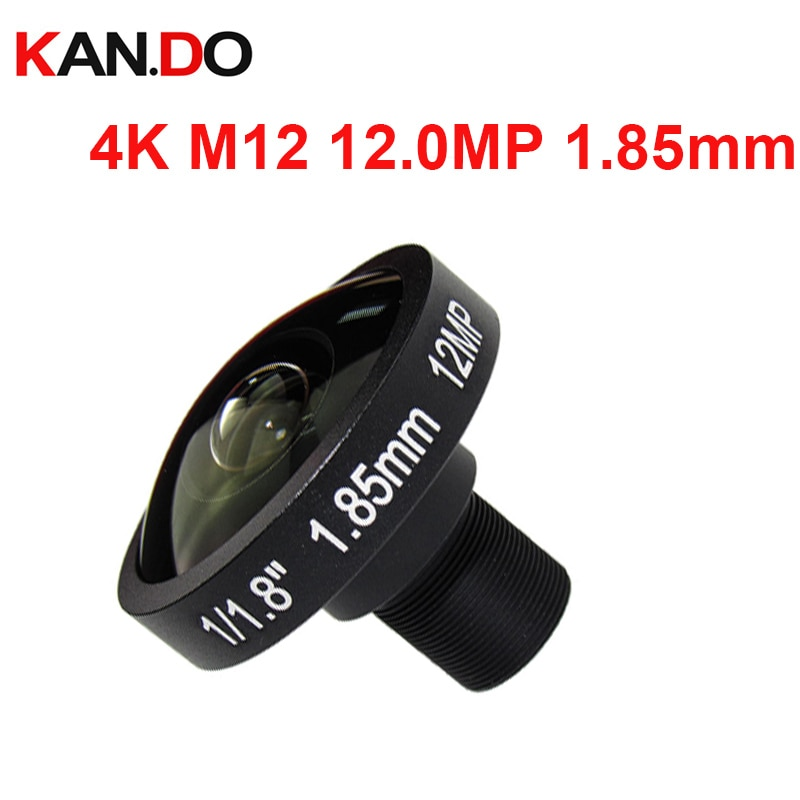 "M12 4k lente 12.0MP 1,85mm 4K de la lente 185 grados de visión amplia lentes ojo de pez para cámara 1/1, 7 ""formato aplicable para IMX226 Sensor"