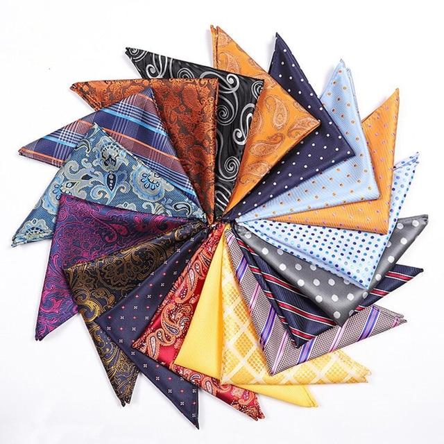 2018 new tie handkerchief Mens Wedding paisley white men pocket squares gift ties matching handkerchiefs blue lot