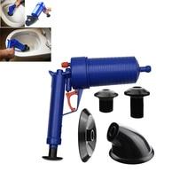 Air Power Drain Blaster gun High Pressure Powerful Manual sink Plunger Opener cleaner pump for Bath Toilets Bathroom Shower