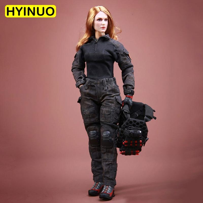 "1/6 escala FT007 lucha mujeres Hero Girl Sexy batalla traje femenino uniforme militar ropa conjunto para 12 ""figura de acción"