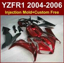 Moule dinjection pour YAMAHA 2004 2005 2006 YZFR1 YZF1000 YZF R1 04 05 06 ensemble de carpette rouge noir   Moule dinjection pour moto, course