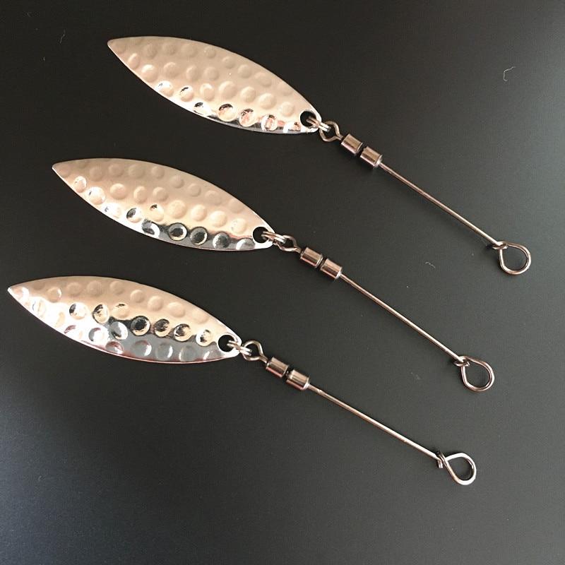5*Fishing Hook Pallet Sea Fishing Hook Spinner Metal Spoon  Maggot Worm Hook Swivels