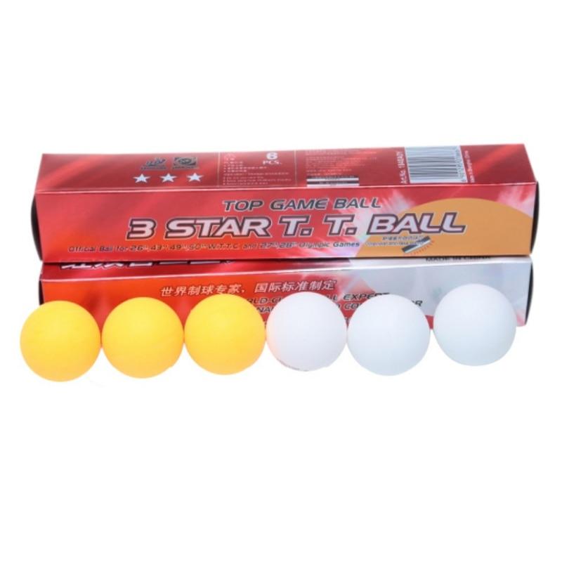Balles de Tennis de Table chaudes 6 pièces/boîtes professionnelles 3 étoiles DHS balle de Tennis de Table balles de Ping-Pong blanches 2.8G poids