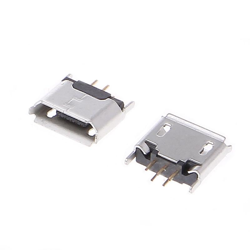 OOTDTY 10 шт. микро USB Тип B гнездо 180 Градусов 5-Контактный SMD SMT пайки Jack