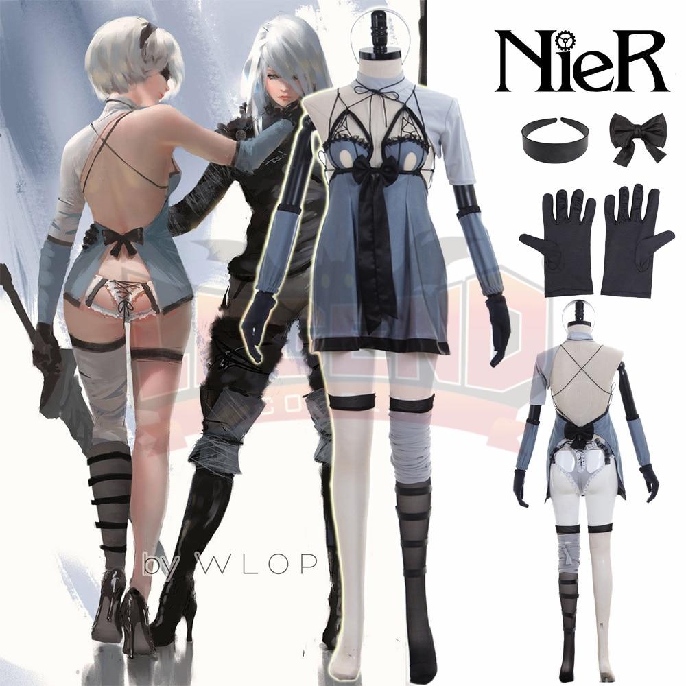 Nier automatas NieR Automata 2b костюм DLC 2017 новая версия YoRHa NO.2 тип B 2B Косплей Костюм для взрослых полный комплект