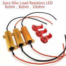 2 pièces 50w 6ohm 8ohm 10ohm Résistances De Charge LED Flash Taux Clignotants Indicateur Lumineux Manettes De Frein de Course Moto