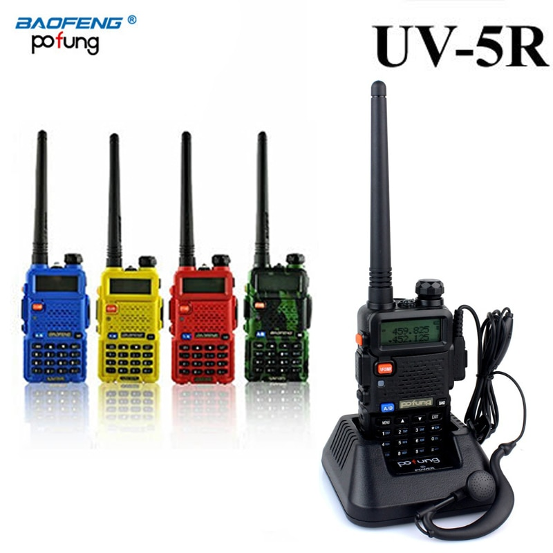 Baofeng UV-5R UV 5R UV5R talkie-walkie bidirectionnel UHF VHF jambon CB Radio Station émetteur-récepteur Boafeng Portable pour 10 km pratique Amador
