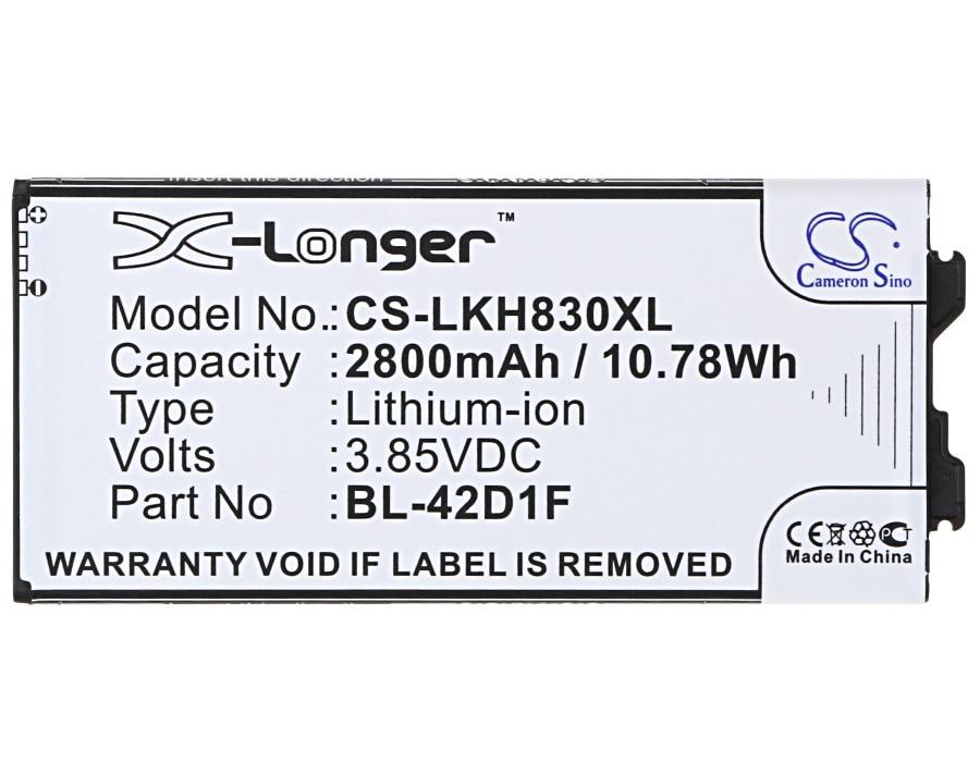 BL-42D1F батареи Cameron Sino 2800mAh для LG AS992, G5, G5 Lite, G5 SE, H820, H830, H840, H845, H848, H850, LS992, RS988, US992, VS987