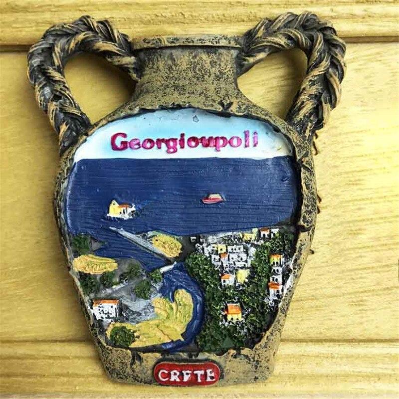 Lychee, diseño de jarrón, Creta, nevera insular, pegatina magnética, Famouse, imanes para nevera, decoración del hogar, regalos de viaje