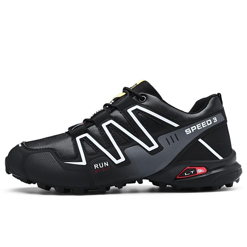 Фото Уличная походная обувь мужские кроссовки Нескользящие износостойкие мужская
