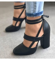 Zapatos de tacón para mujer talla grande 35-43 zapatos de tacón para mujer tacón grueso