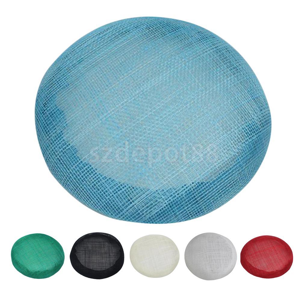 Atacado 15cm redonda sinamay fascinator base millinery fascinator chapéu base artesanato que faz o material