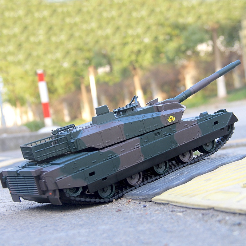RC Tank Remote Control Tank Rechargeable 1/20 9CH 40CM Camouflage 27Mhz Infrared Electric Toys For Boys Birthday Gifts enlarge