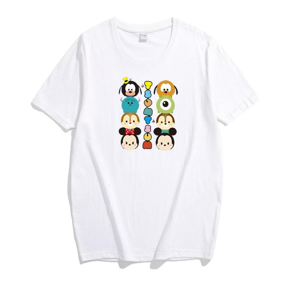 Camiseta Kawaii estilo Harajuku, camisetas coreanas, Tops de verano, camisetas sueltas rectas, Blusas Y Camisas para Mujer, estilo de barrio