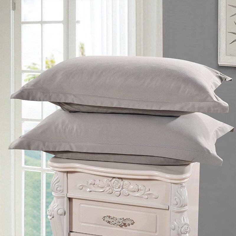 Fundas de almohada de Color azul claro Color sólido 100% poliéster fundas de almohada de estilo breve funda de almohada 1 pieza 48 cm * 74 cm XF336-8