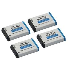 4 pièces SLB-10A SLB 10A Batterie De Remplacement Pour Samsung SL102 SL202 SL420 SL620 SL820 HZ10W HZ15W ES55 L100 L110 L200 L210 L310W