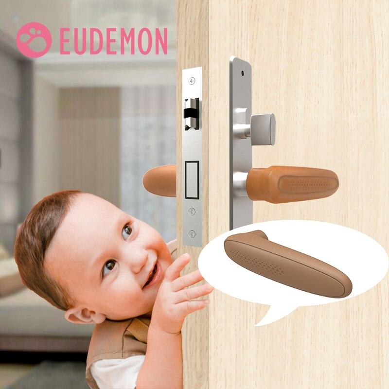 Pomo de puerta EUDEMON, Pomo de puerta de silicona, cubierta de seguridad, Protector de bebé, productos de protección infantil, anticolisión