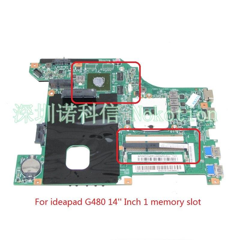 Nokotion 11S102500517 LG4858L 48.4WQ01.011 ل ينوفو ideapad g480 laptop motherboard hm76 ddr3