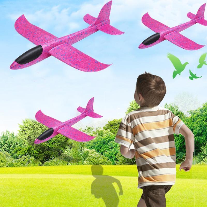 48 см ручной бросок Rc самолет Розовый Красный Epp пена Открытый Запуск планер гибкий самолет детская игрушка бесплатно Fly Rc модель самолета