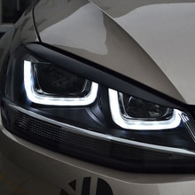 Cardimanson Headlights Eyebrow Eyelids Stickers Trim Cover for Volkswagen VW Golf 7 MK7 GTI R Rline Accessories Car Styling