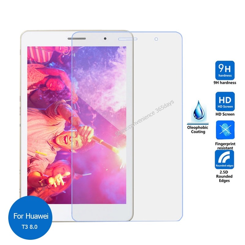 Tempered Glass Screen Protector For Huawei Mediapad T3 8.0 Safety Protective Glass on T 3 KOB-L09 KOB-W09 KOB L09 W09