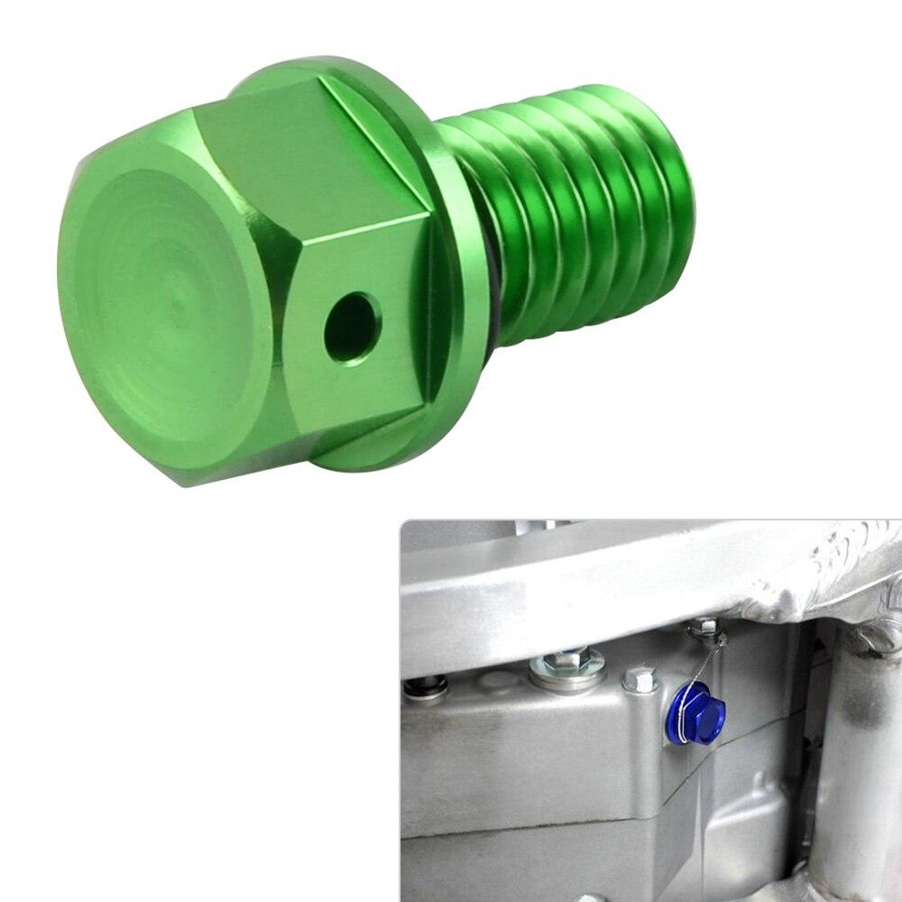 M10 * P1.5 tapón magnético de drenaje de aceite perno para Kawasaki KX65 KX85 KX100 KX250 KX250F KX450F KLX250 D rastreador Ninja 250SL para Suzuki