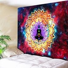 Tapisserie murale Hippie tapis de Yoga   Tapisserie Chakra 3D Ombre Galaxy psychedelique, décoration Boho, tapisserie de Mandala, tenture murale Hippie tapis Cool de Yoga