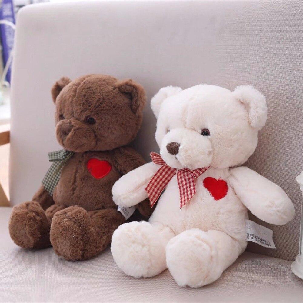 Плюшевые игрушки с рисунком плюшевого мишки с сердечком, мягкие игрушки для детей, подарок на день рождения для девочек, игрушки для детей, 35-50 см