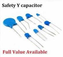 20PCS Sicherheit Y Kondensator 250VAC 400VAC 471M 222M 472M 102M 103M 470PF 1000PF 1NF 2,2 NF 4,7 NF 10NF 0,0022 UF 0,0047 UF 0,001 UF 470P