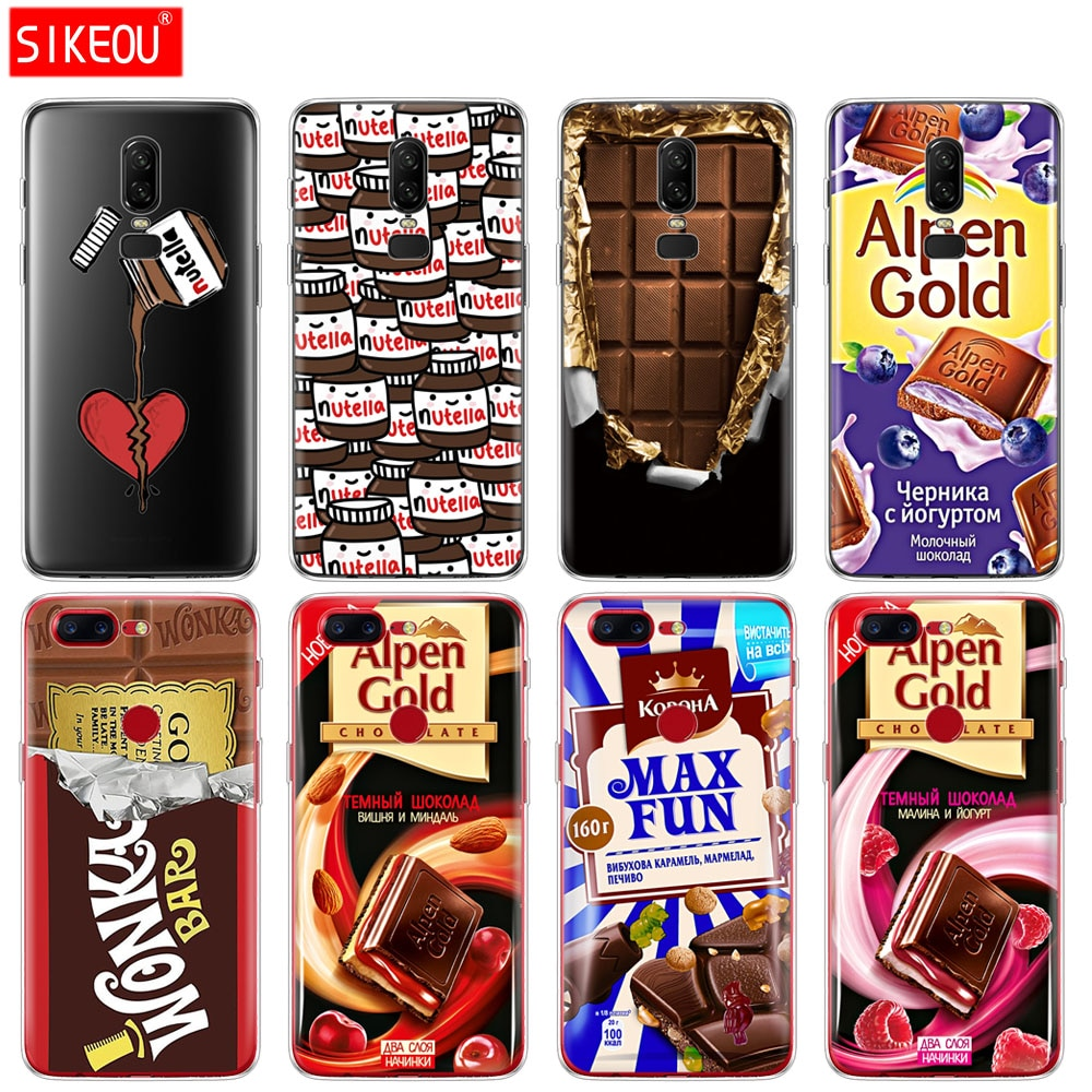 silicone cover phone case for Oneplus one plus 6 5T 5 3 A3000 A5000 alenka bar wonka chocolate