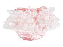 Haian ABDL PVC & Satin Panties Frilly Rumba Pants Color Pink #FSP07A-5