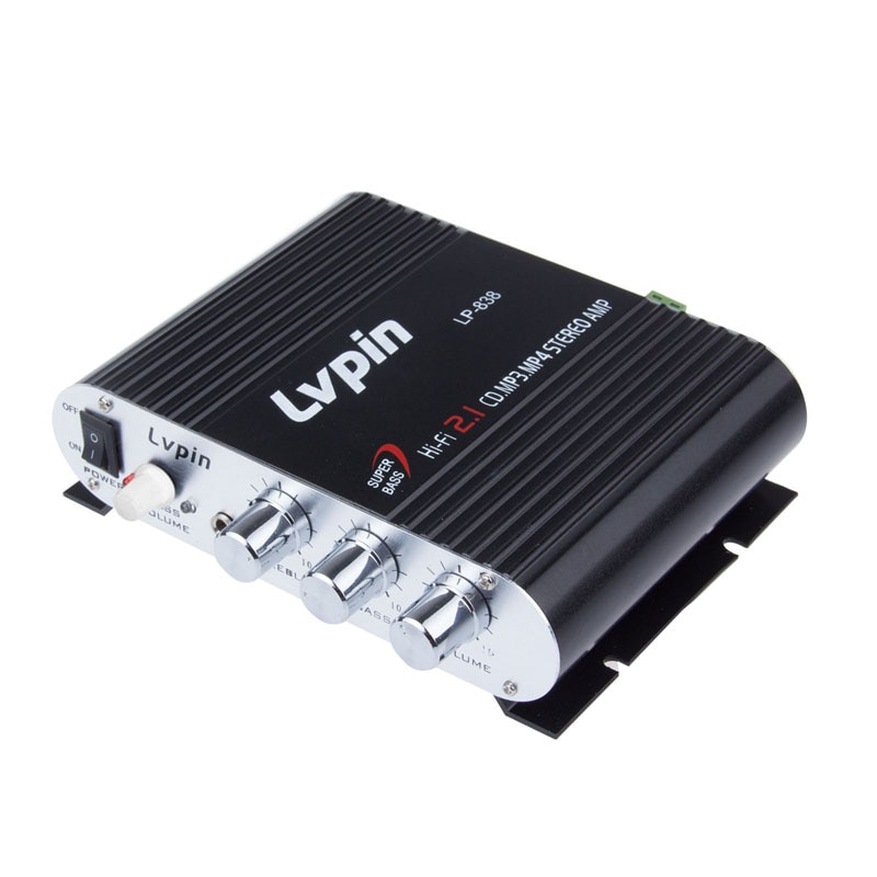 Hi-Fi-Amplificador de Subwoofer para coche, reproductor de Audio FM, MP3, potencia estéreo...