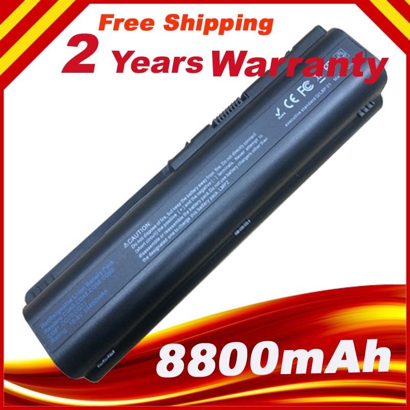 Hstnn-ub72 hstnn-ub73 bateria para hp compaq dv4 dv5 dv6 cq40 cq45 CQ50 CQ41 CQ61 CQ70 CQ71 G50 G60 G61 G70 Laptop 12 CÉLULAS