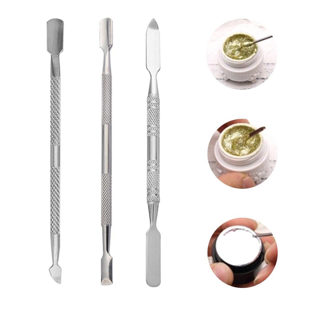 1/7 uds, polvo inoxidable, líquido, Gel UV, cuchara para mezclar, tonificar, espátula, punzón, arte de uñas, varilla agitadora, herramientas de manicura, herramienta de maquillaje