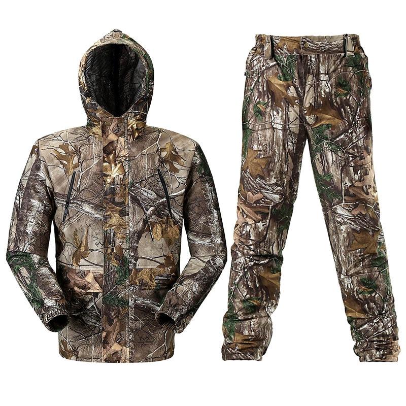 Transpirable Bionic camuflaje ropa de caza traje Ghillie de camuflaje de caza pantalones de Chaqueta de traje de uniforme de cazador