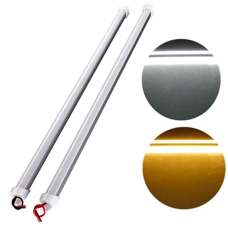 10 قطعة * 50 سنتيمتر DC12V 5730 LED قطاع الصلب الصمام شريط ضوء 5730 5630 مع U الألومنيوم قذيفة + pc غطاء