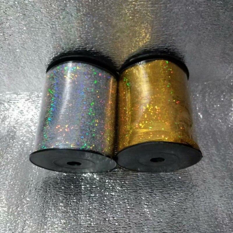 500 ярдов 1 шт длинная полоса лазерная Золотая лента Декор Аксессуары для воздушного шара герметизация Подарочная коробка бант лента для дня ...