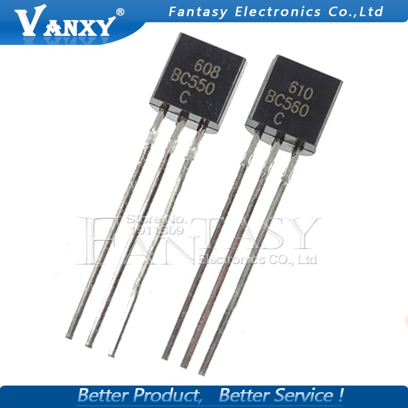 50 Uds BC550C + BC560C cada 25 uds BC550 BC560 TO92 Transistor DIP-3 45V 0.1A a 92 nuevo Original