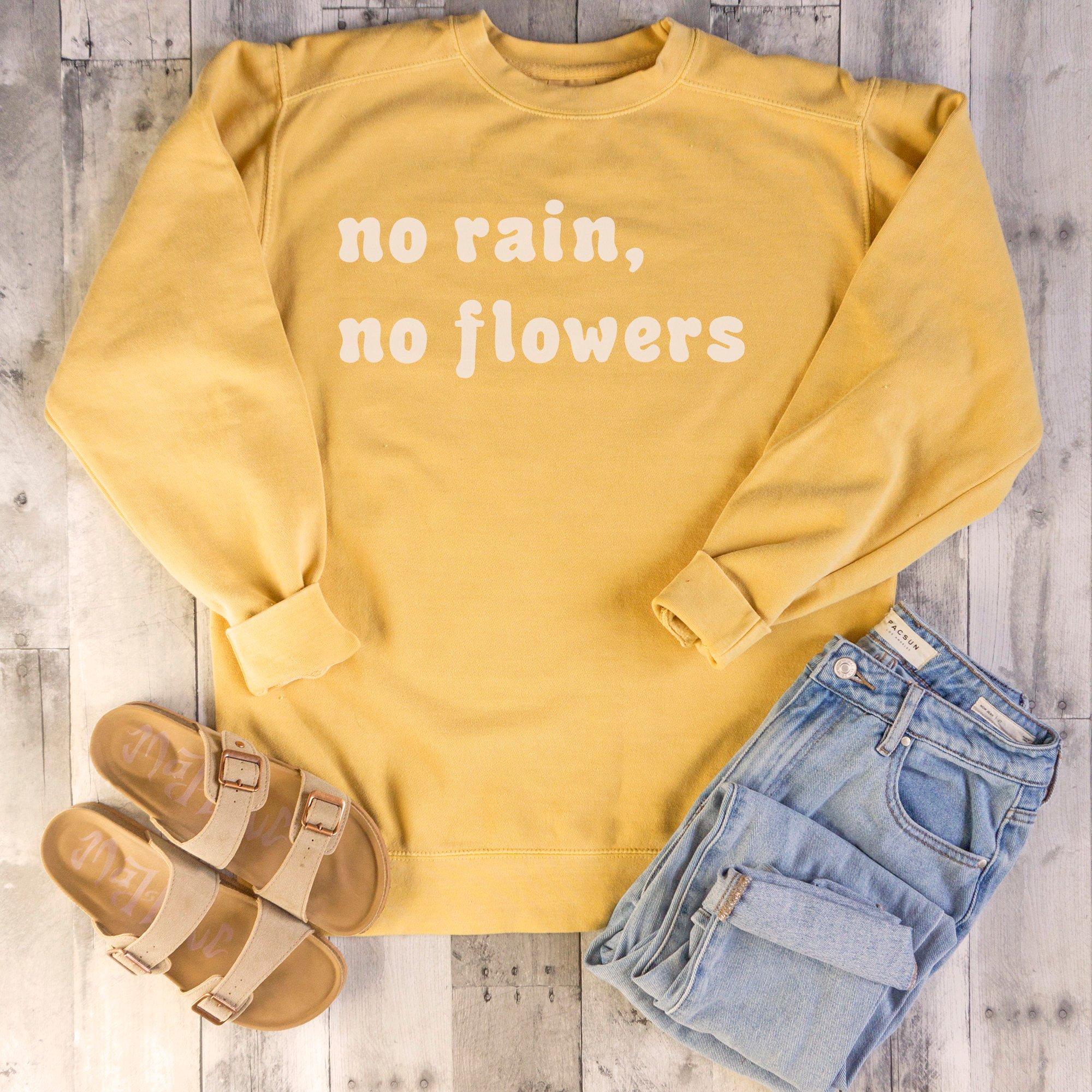 Sem chuva sem flores moletom feminino manga longa boho amarelo hoodie vintage camisa selvagem mel abelha crewneck jumpers transporte da gota