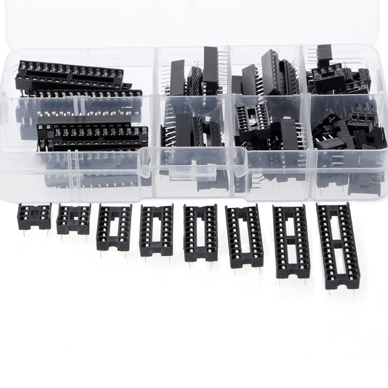Новые розетки адаптер 66 шт./компл. DIP ИС адаптер припоя Тип гнездо комплект 6 8 14 16 18 20 24 28 шпильки Лидер продаж