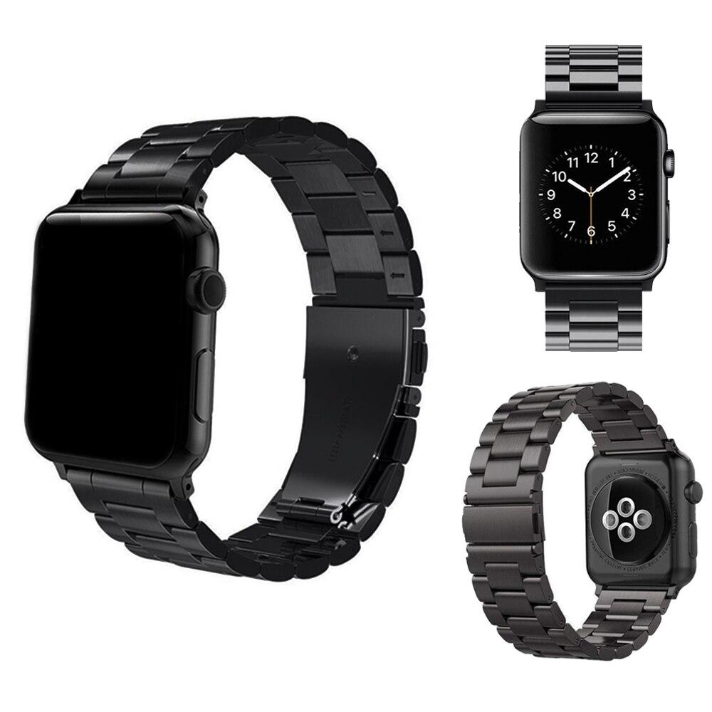 Para Apple Watch SERIE DE gomillas 42mm 44mm 38mm 40mm oro rosa apple banda de acero inoxidable correa de Metal para iWatch 4 3 2 1