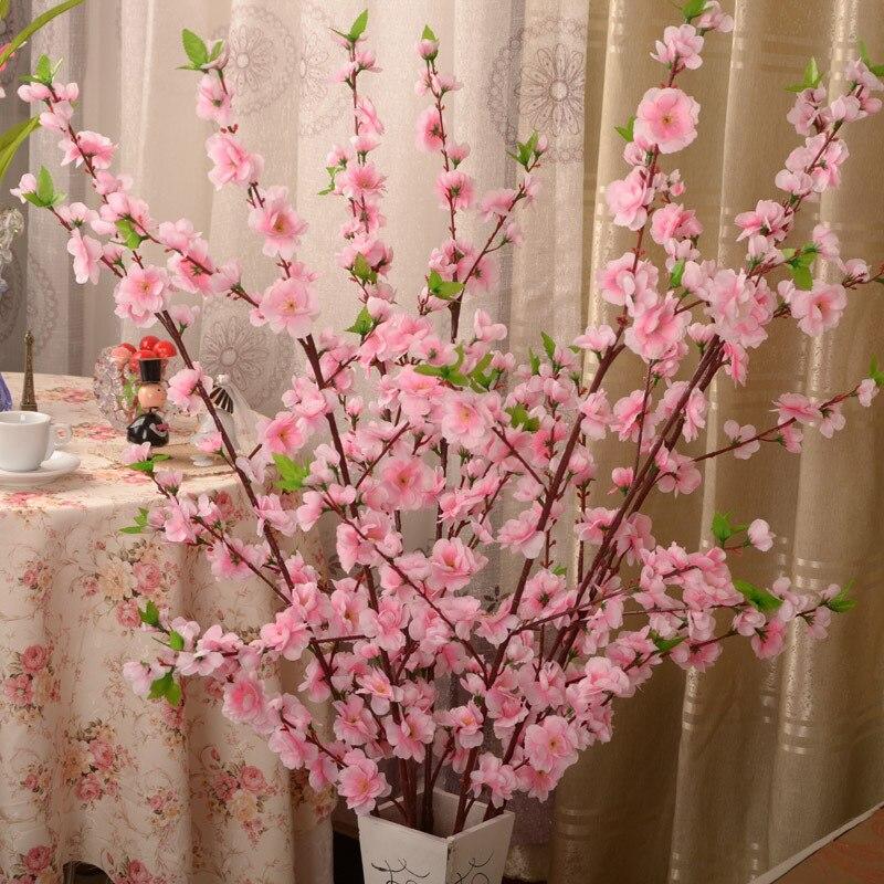 300 шт. искусственные вишневые весенние сливы персиковые ветки шелковые цветы Вишневое дерево Сделай сам украшение для свадебной вечеринки