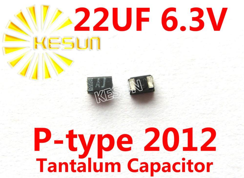 100% Original 22UF 6,3 V P Tipo 0805 SMD 2012 condensador de tantalio TEESVP0J226M8R x100PCS envío gratis