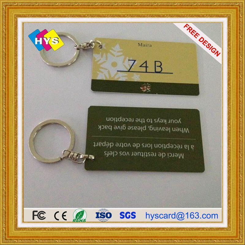 Пластиковая бирка для ключей и печать визиток по оптовым ценам