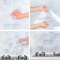 Feuille autocollante pour carrelage de cuisine et salle de bain  autocollant mural Transparent et etanche  pate a lhuile fourmi  haute temperature