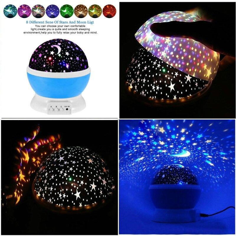 Estrelas Da Lua Céu Projetor de Luz Para Cima Da Novidade Brinquedos Para O Bebê Crianças Kid Brinquedos Brilham No Escuro Para Dormir Decoração de Natal presente