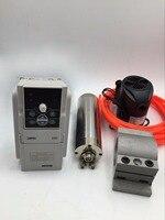 1.2KW ER11 ציר מנוע קירור מים במהירות גבוהה 60000 RPM + נהג 1 שלב 220 V 1.5KW VFD מהפך CNC נתב כרסום קידוח