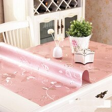 Nappe de table en PVC imperméable   Couverture de table avec motif dhuile, nappe de verre souple, textile de maison 1.0/1.5/2.0