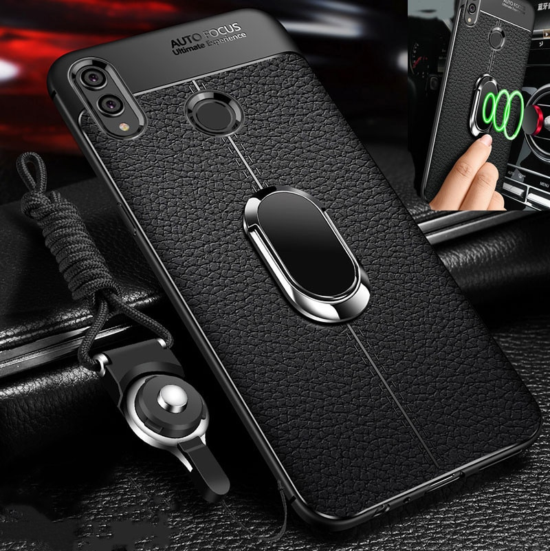 Honor 8X Case For Huawei Honor 8X Case Cover For Huawei Honor 8X Max lite Case soft magnet car ring holder Back Cover Honor8