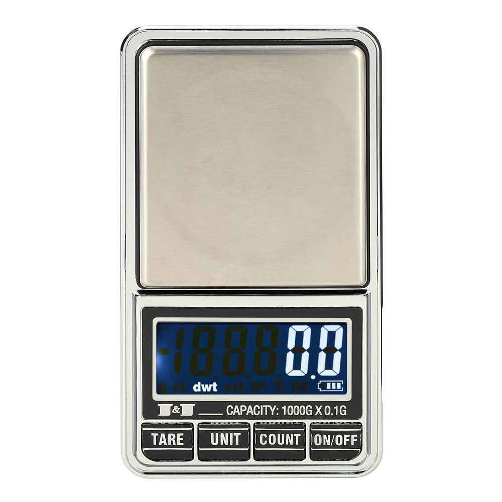 Mini Bolso equilíbrio balanza Balança Digital Escala Jóias Balanças Eletrônicas de Precisão joyeria pesas bascula digital Equilíbrio 1000g * 0.1g